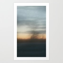 Hazy shade of winter Art Print