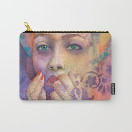 Queen Arabela with Blue eyes Carry-All Pouch