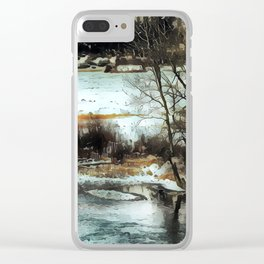 Down By The Waters Edge - Graphic 2 Clear iPhone Case