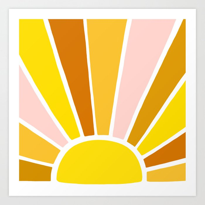 Sun Ray Burst Art Print