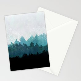 Woods Abstract  Stationery Cards