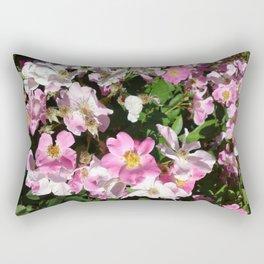White and Pink Rectangular Pillow