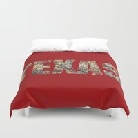 texas Duvet Covers featuring Texas by dawne photography