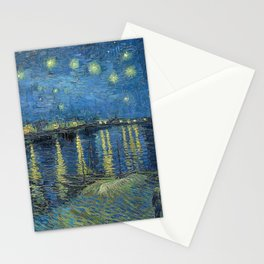 STARRY NIGHT OVER RHONE - VAN GOGH Stationery Cards