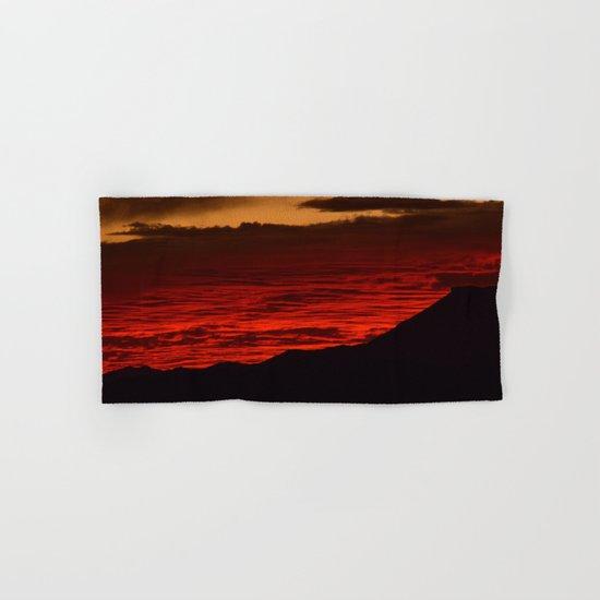 Red Hot Desert Sky Hand & Bath Towel