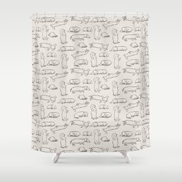 More Sleep Dachshund Shower Curtain