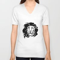 the lion king V-neck T-shirts featuring Lion King by Alexandr-Az