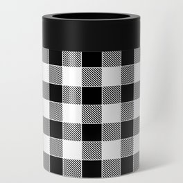 Buffalo Check - black / white Can Cooler