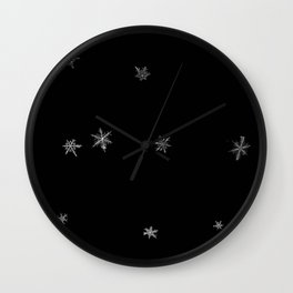Snowflakes of the night Wall Clock