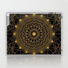 Geometric Circle Black and Gold Laptop & iPad Skin