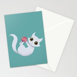 Mischievous kitty Stationery Cards