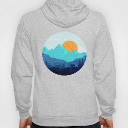 Wild mountain sunset landscape Hoody