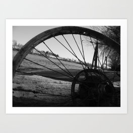 Riverside Shadowed Art Print