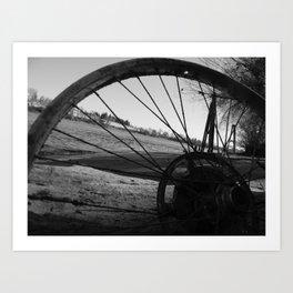 Riverside Shadowed Art Print