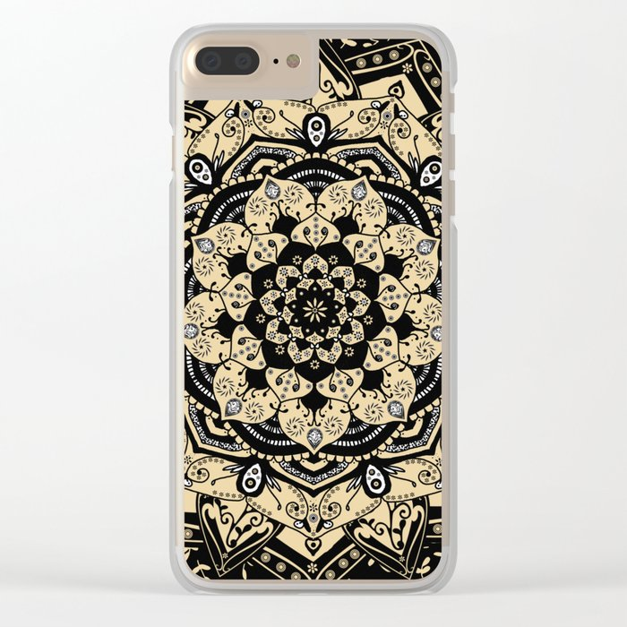 Indian Gold Mandala Clear iPhone Case