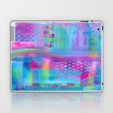 Pink with Blue Dots Laptop & iPad Skin
