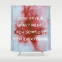 NIGHTWALKER | Heavy Heart Shower Curtain