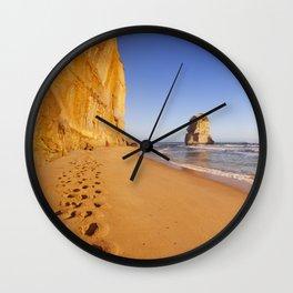 I - Twelve Apostles on the Great Ocean Road, Australia at sunset Wall Clock
