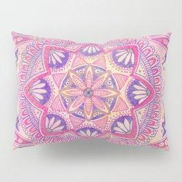 Magenta Bohemian Mandala Pillow Sham