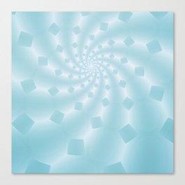Tess Fractal in Frozen Blue Canvas Print