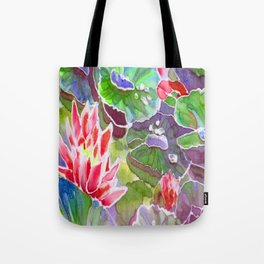 original silk painting of water lilies Tote Bag