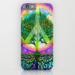 Tree of Life Peace iPhone Case