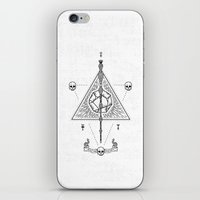 deathly hallows iPhone & iPod Skins featuring Deathly Hallows (White) by Mírë