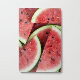 Juicy Watermelon Metal Print