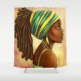 Green Yellow Wrap Shower Curtain