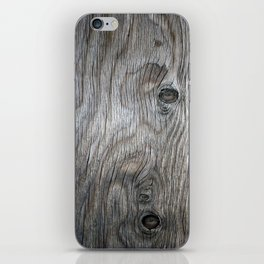 Real Aged Silver Wood iPhone Skin