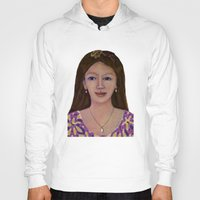 asia Hoodies featuring Asia woman by ANGELPRINT