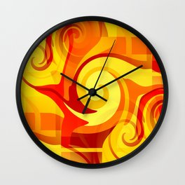 Autumn Colors Abstract Wall Clock