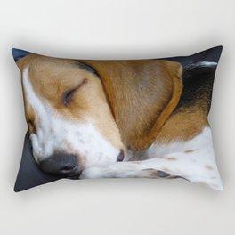 Beagle Dog Sleeping Rectangular Pillow