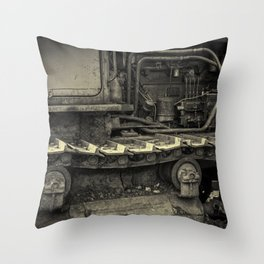 Tracks of the Warped Earth Mover Throw Pillow