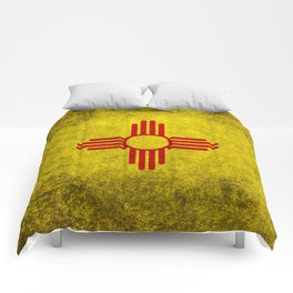 Flag of New Mexico - vintage retro style Comforters