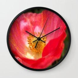 Poppin' Poppy Wall Clock