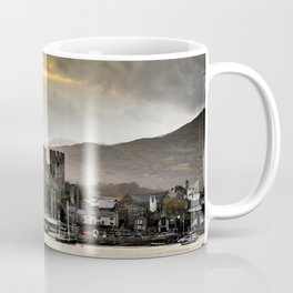 Sunset at Conwy Castle, North Wales Coffee Mug