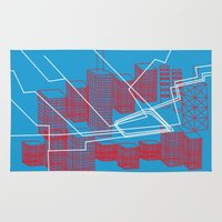 chicago Area & Throw Rugs featuring Chicago by Ingrid Sam Ocasio