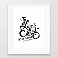 verse Framed Art Prints featuring Typographic Verse by Ruthie Designs