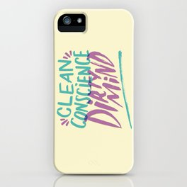 Clean/Dirty iPhone Case