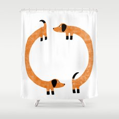 Sausage Dogs Shower Curtain