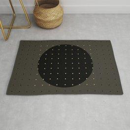 """""""Central Circle Grey Polka dots"""" Rug"""