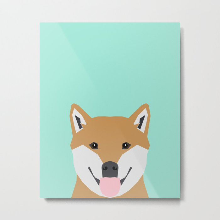 Cassidy - Shiba Inu gifts for dog lovers and cute Shiba Inu phone case for Shiba Inu owner gifts Metal Print