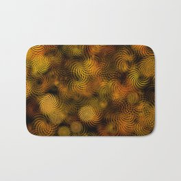 Copper Spiral Abstract Bath Mat