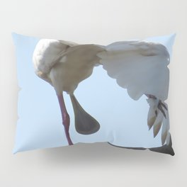 A Spoonbill's outlook on life Pillow Sham