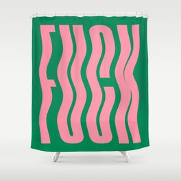 Favorite Word: Tropical Wavy Edition Shower Curtain