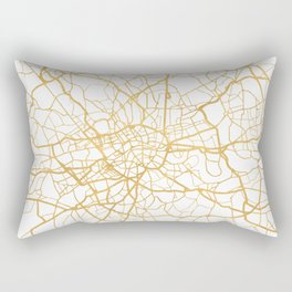 LONDON ENGLAND CITY STREET MAP ART Rectangular Pillow