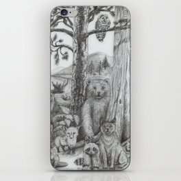 Woodland Friends iPhone Skin