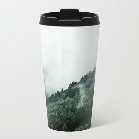 Foggy Woods 1 Metal Travel Mug