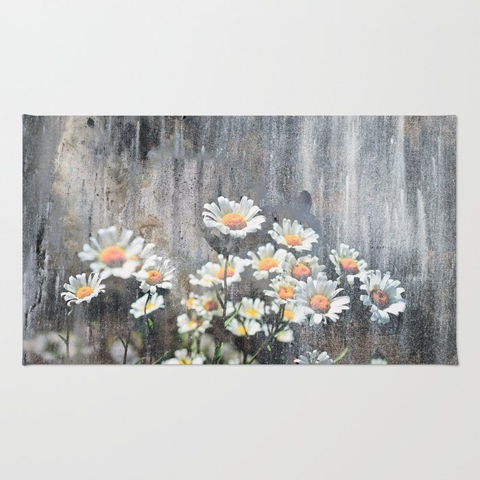 Daisies in Distress Rug